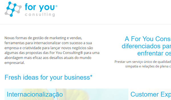 Página Internet For You Consulting